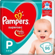 Panales Pampers Super Sec Pequeno 8 Un